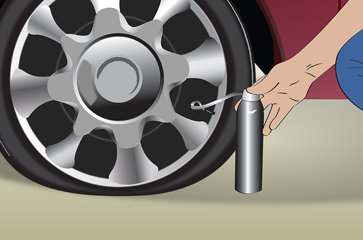 ilustra reparador de pneu