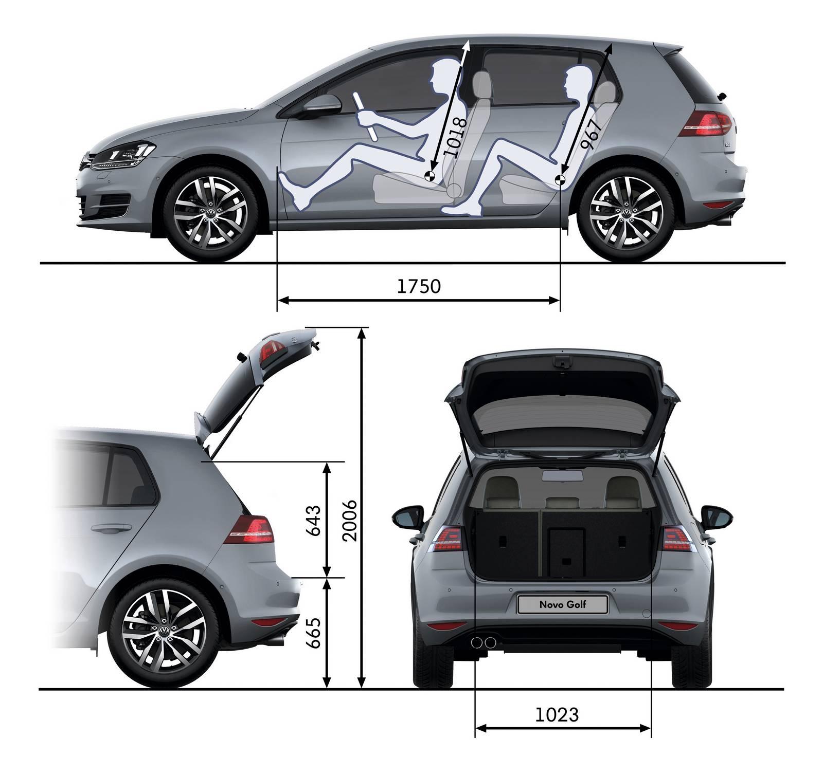 VW Golf 1.0 TSI: dimensões do hatch médio