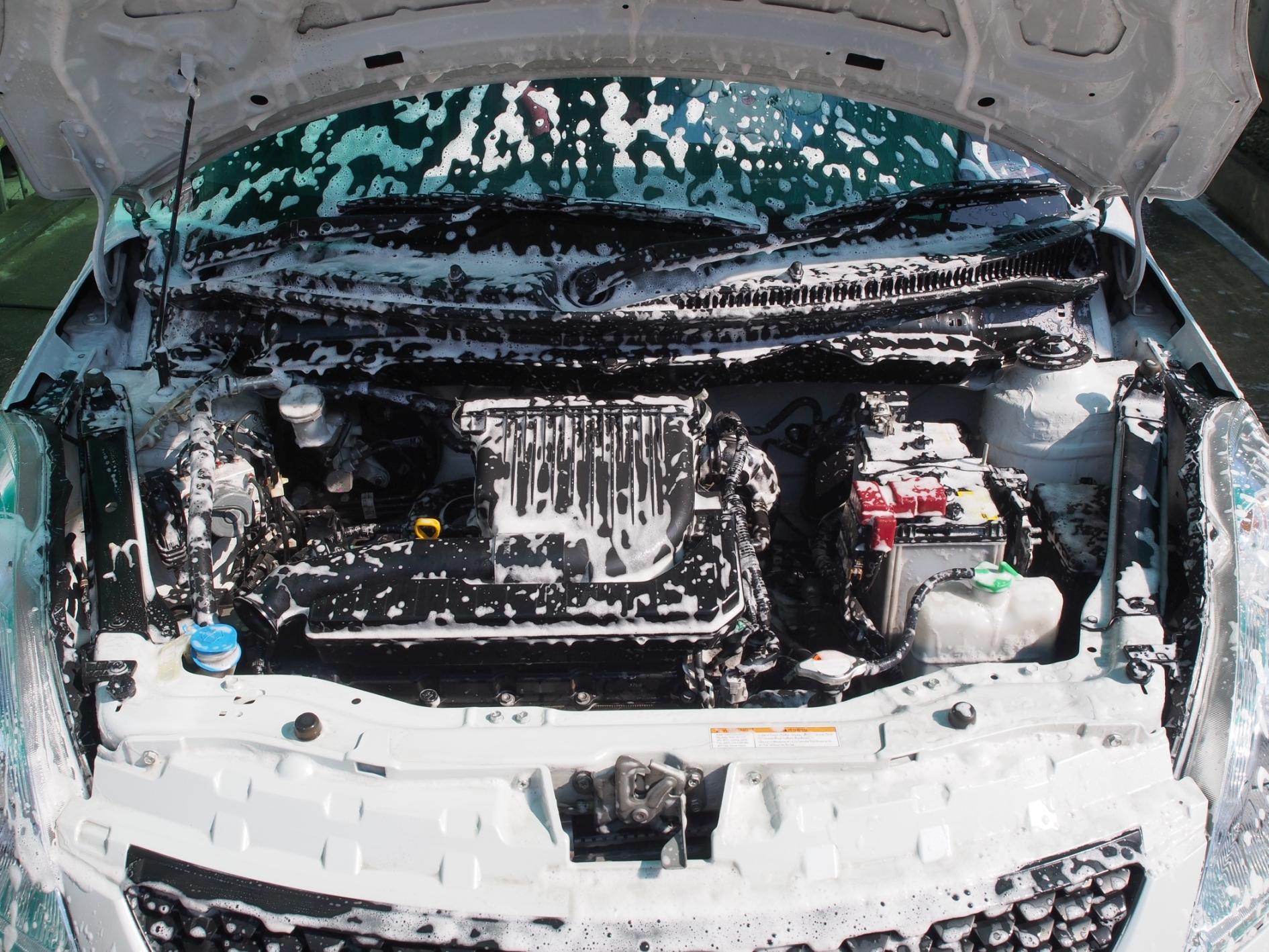 lavar motor do carro