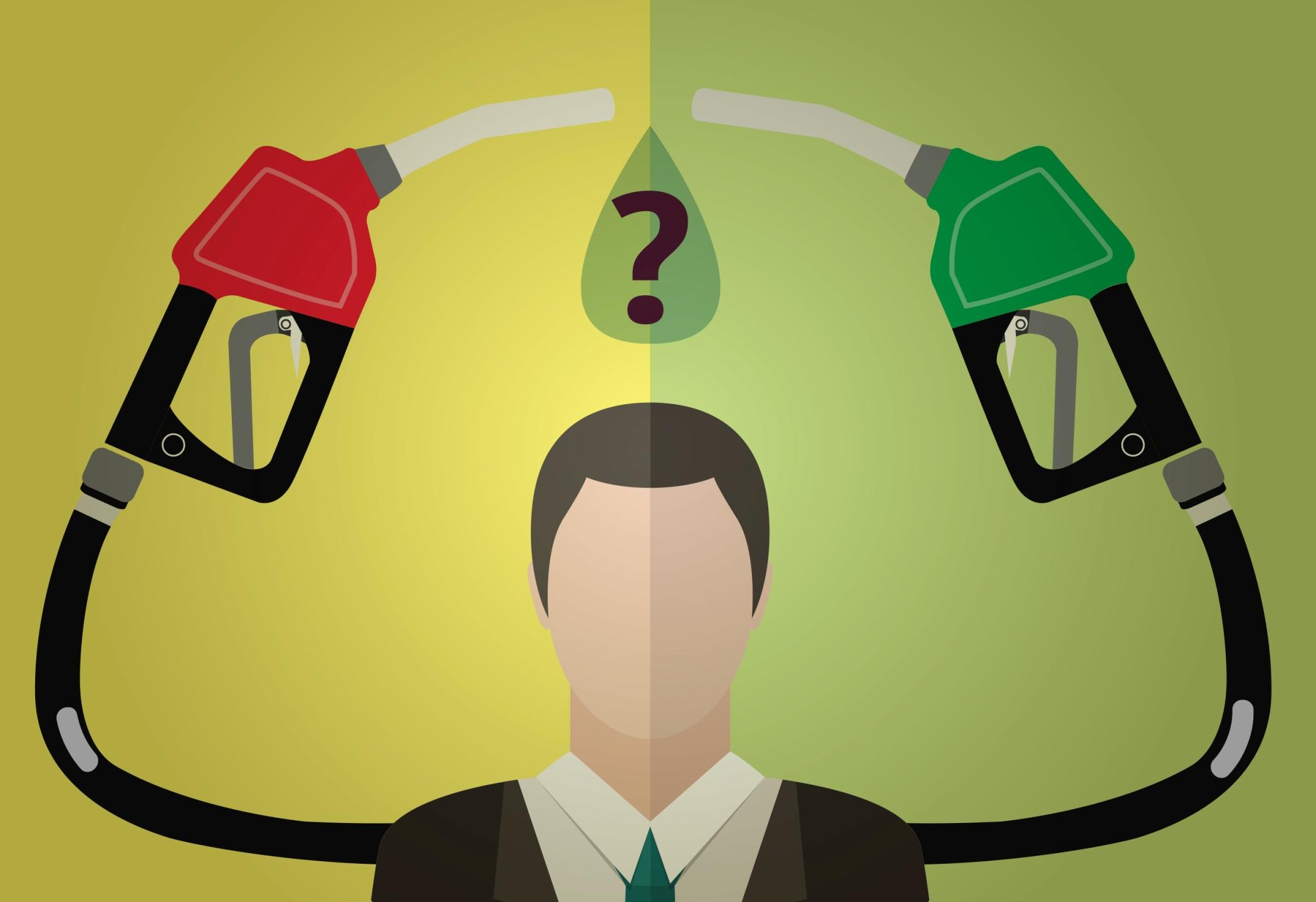 Alternar o combustível no flex