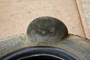 Bolha perigosa: pneus são sensíveis a impactos