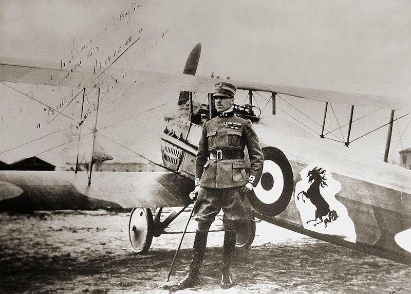 Herói italiano, Francesco Baracca triunfou em 34 batalhas aéreas durante a Primeira Guerra Mundial (Foto: Reprodução)
