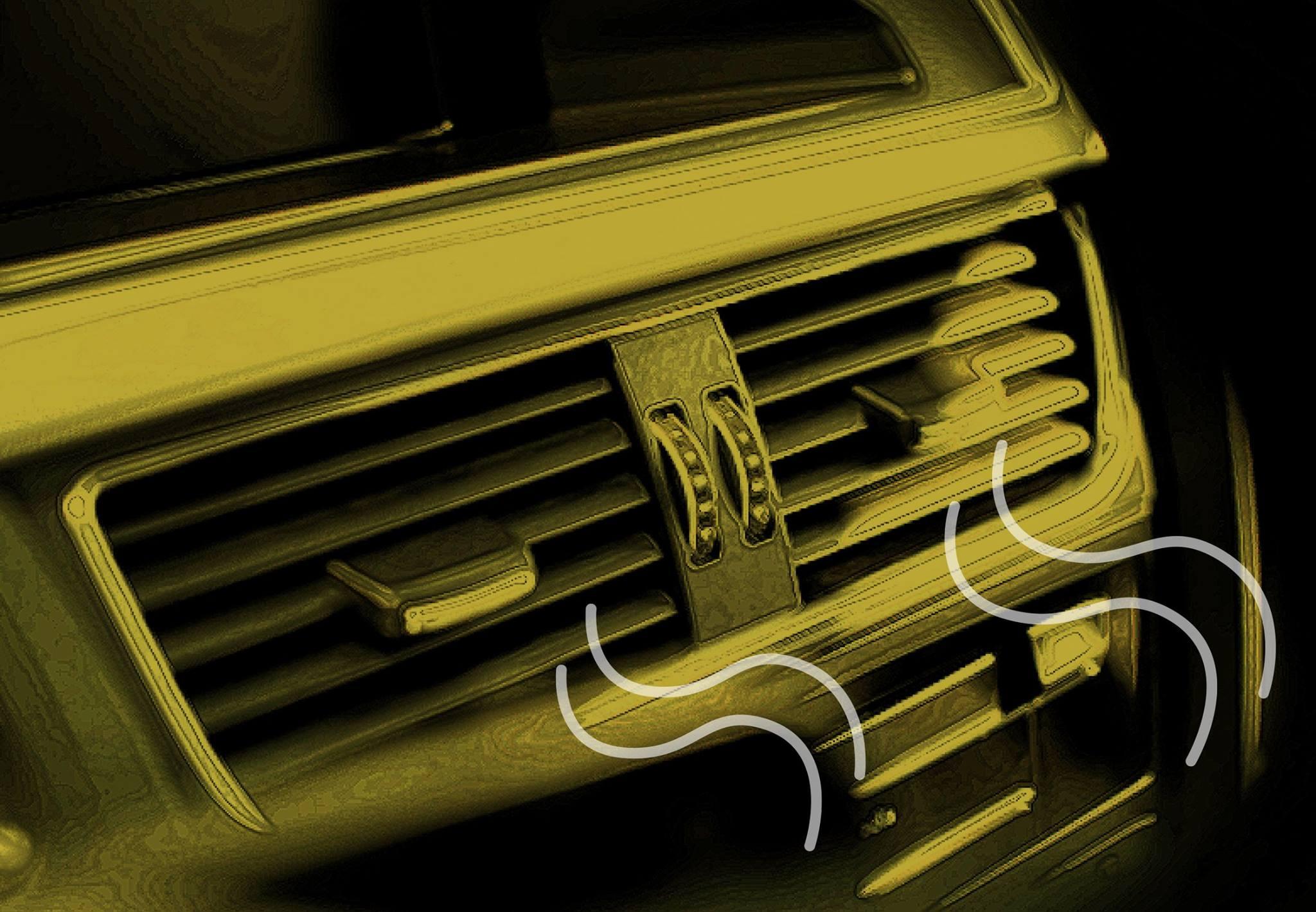 duto do ar-condicionado no painel do carro