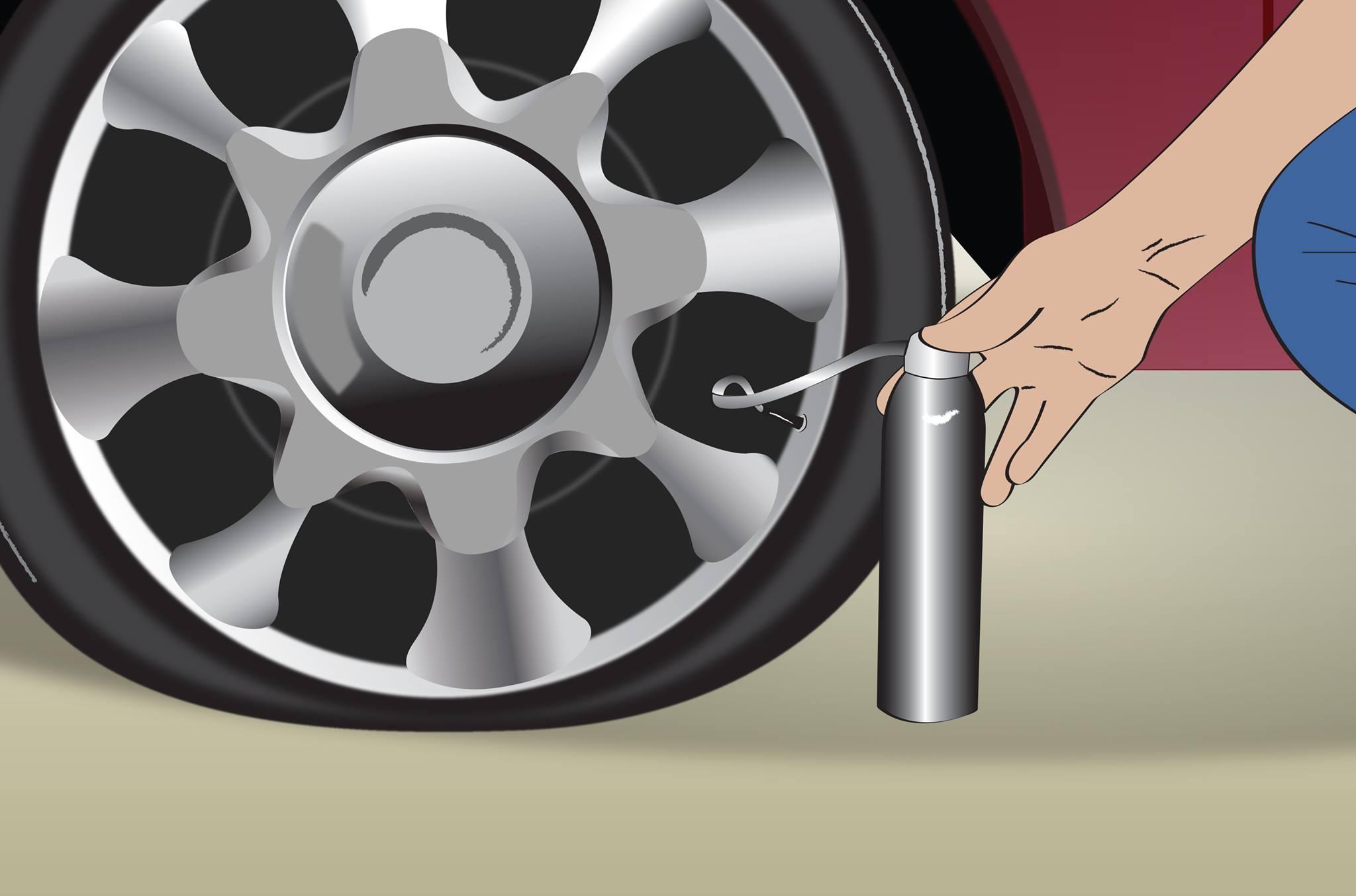 reparador pneu bomba ilustra