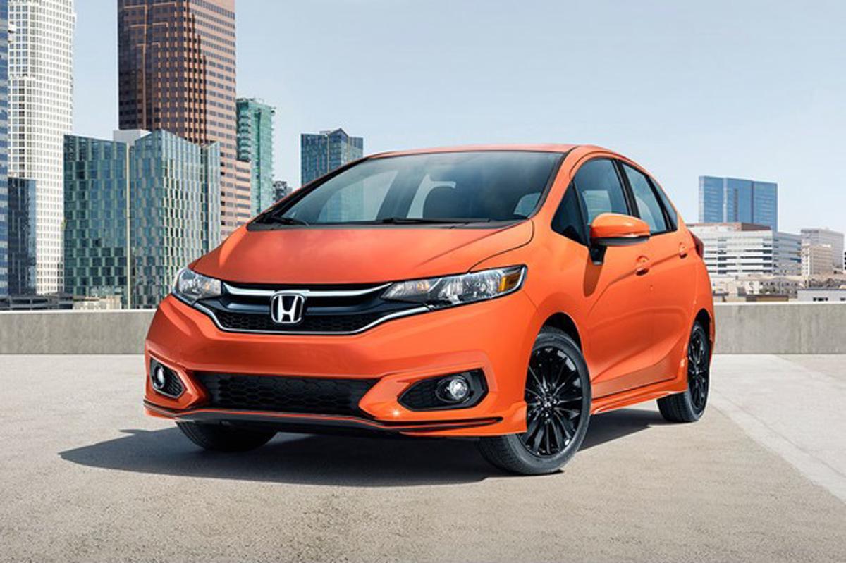 Honda Fit laranja