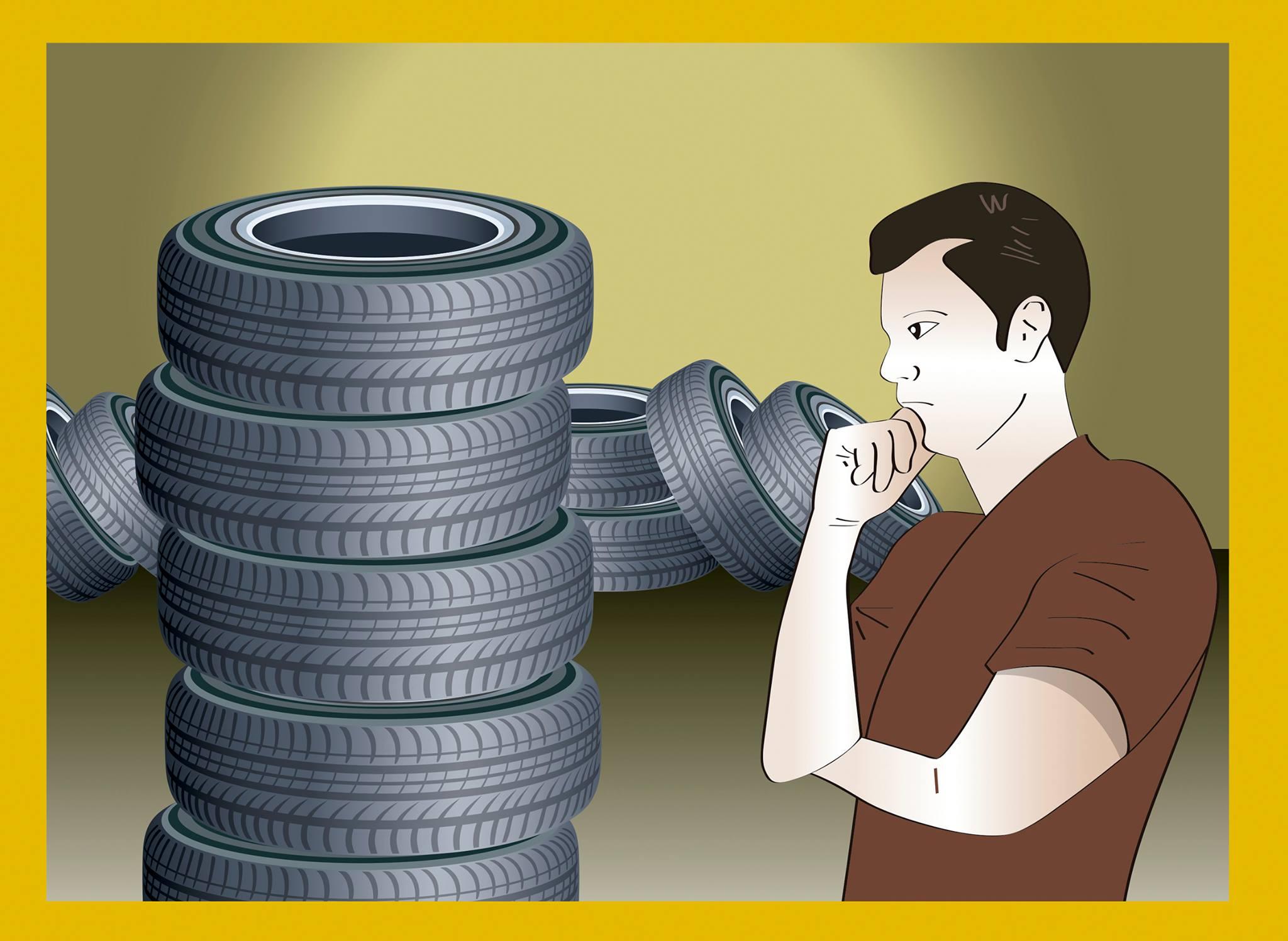 ilustra pneu recauchutado