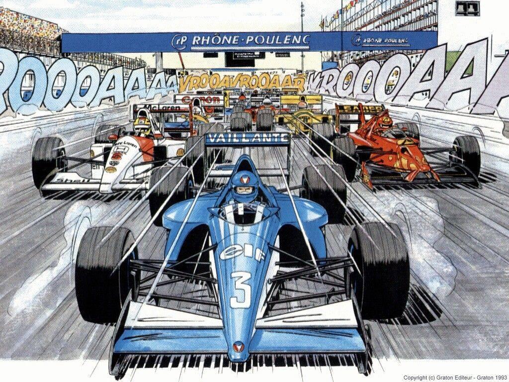 carros dos quadrinhos f1