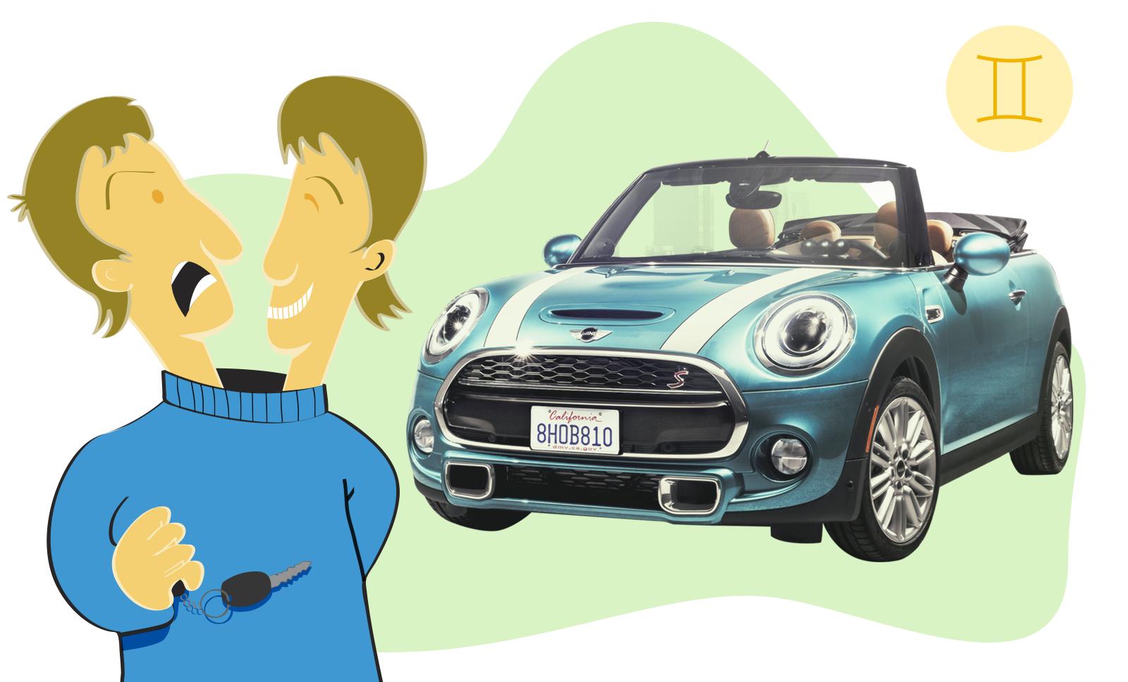 Carro de cada signo: mini cabrio para gêmeos