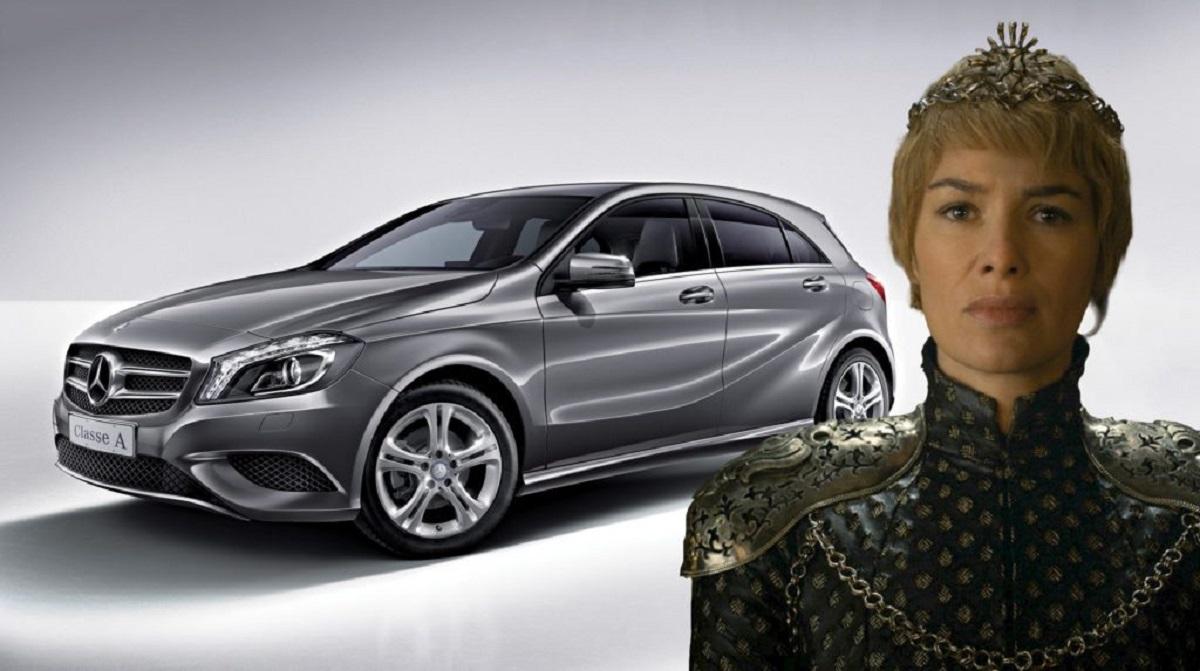 Cersei é um Mercedes-Benz Classe A (Bárbara Angelo | AutoPapo). Transformamos reis, rainhas, anão, eunuco e companhia em carros enquanto aguardamos pelo episódio final de Game of Thrones.