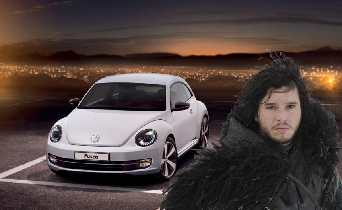 Jon Snow é um Volkswagen Fusca (Bárbara Angelo | AutoPapo). Transformamos reis, rainhas, anão, eunuco e companhia em carros enquanto aguardamos pelo episódio final de Game of Thrones.