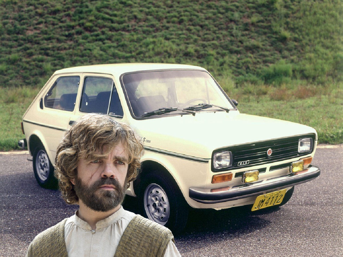 Tyrion Lannister é um Fiat 147 (Bárbara Angelo | AutoPapo). Transformamos reis, rainhas, anão, eunuco e companhia em carros enquanto aguardamos pelo episódio final de Game of Thrones.