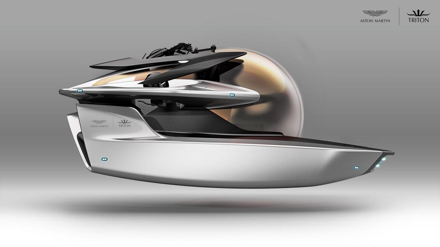 O conceito de veículo submersível Project Neptune (Aston Martin/Divulgação)