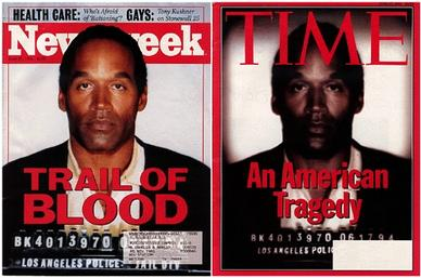 O.J. Simpson capas Newsweek e Time
