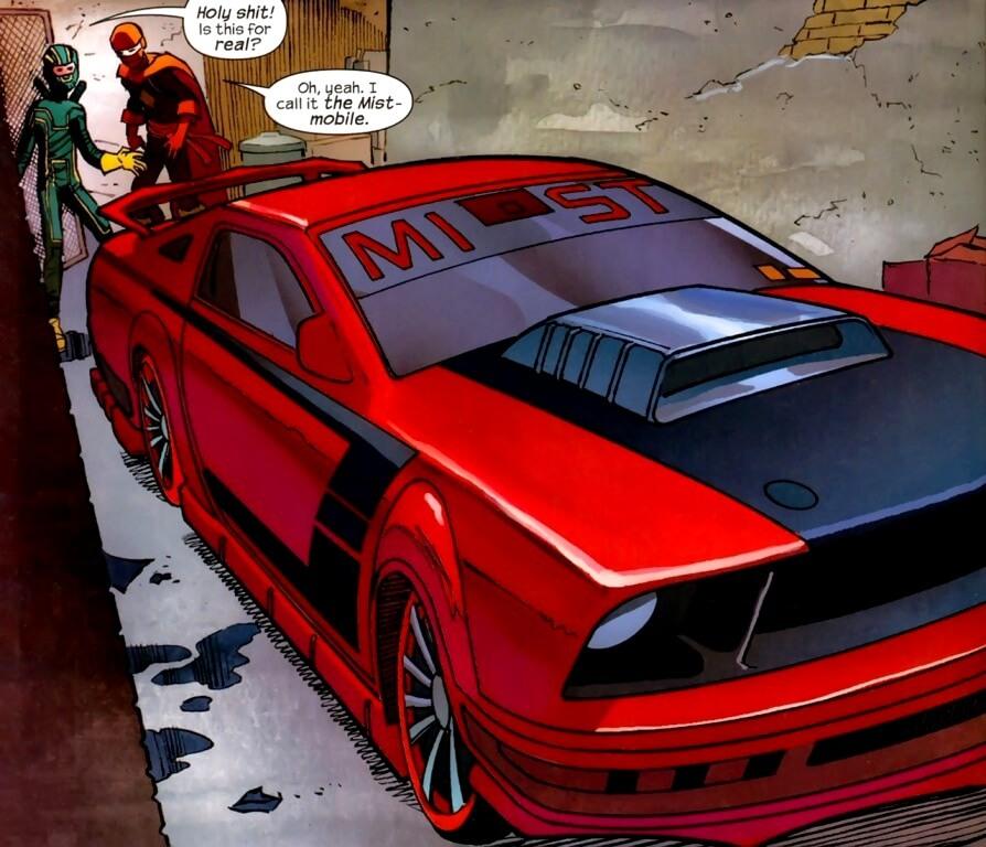 carros dos quadrinhos ford mustang