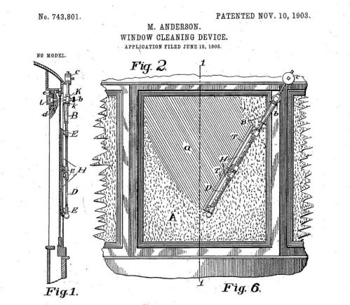 mary anderson ilustracao de mary para sua patente de 1903 window cleaning device united states patent and trademark office