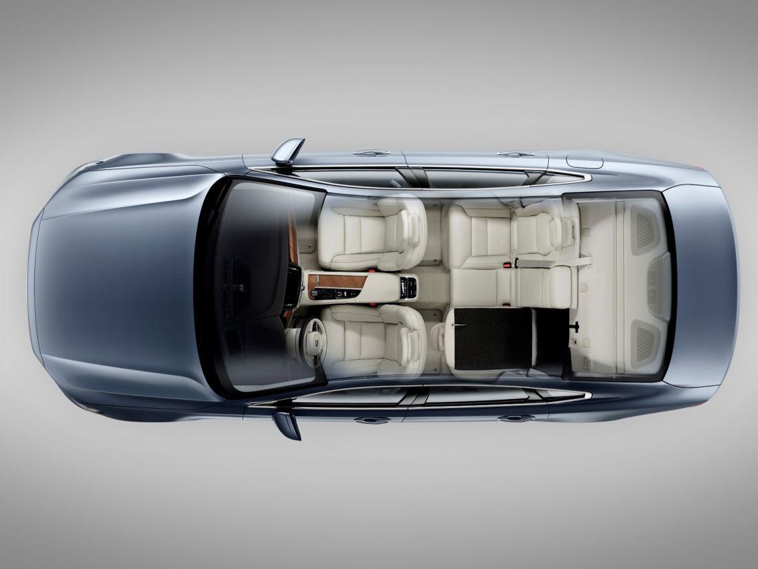 Ilustração da organização interna do sedã S90 (Volvo/Divulgação)