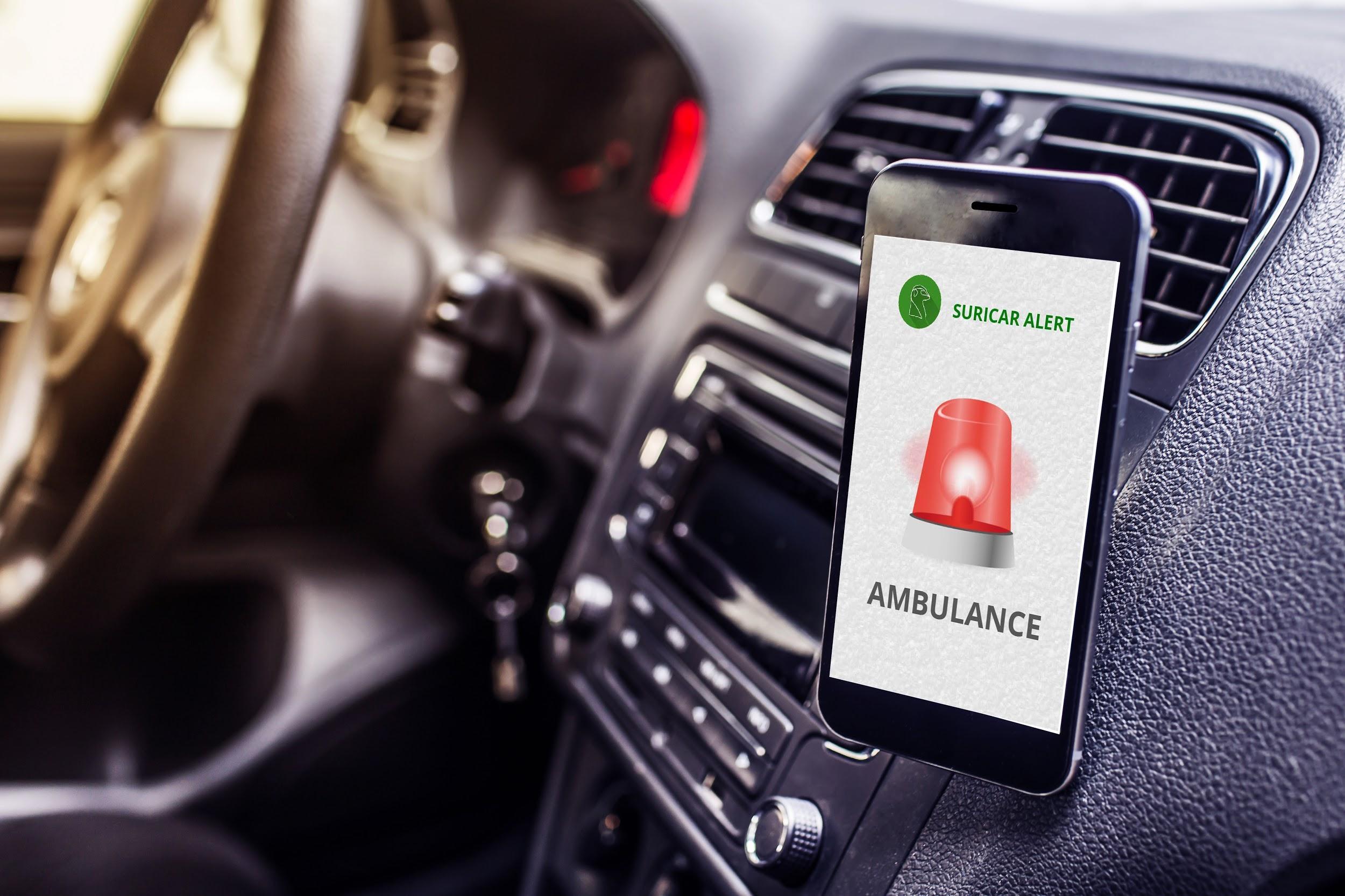 SuriCar: sinal de alerta de ambulância para surdos