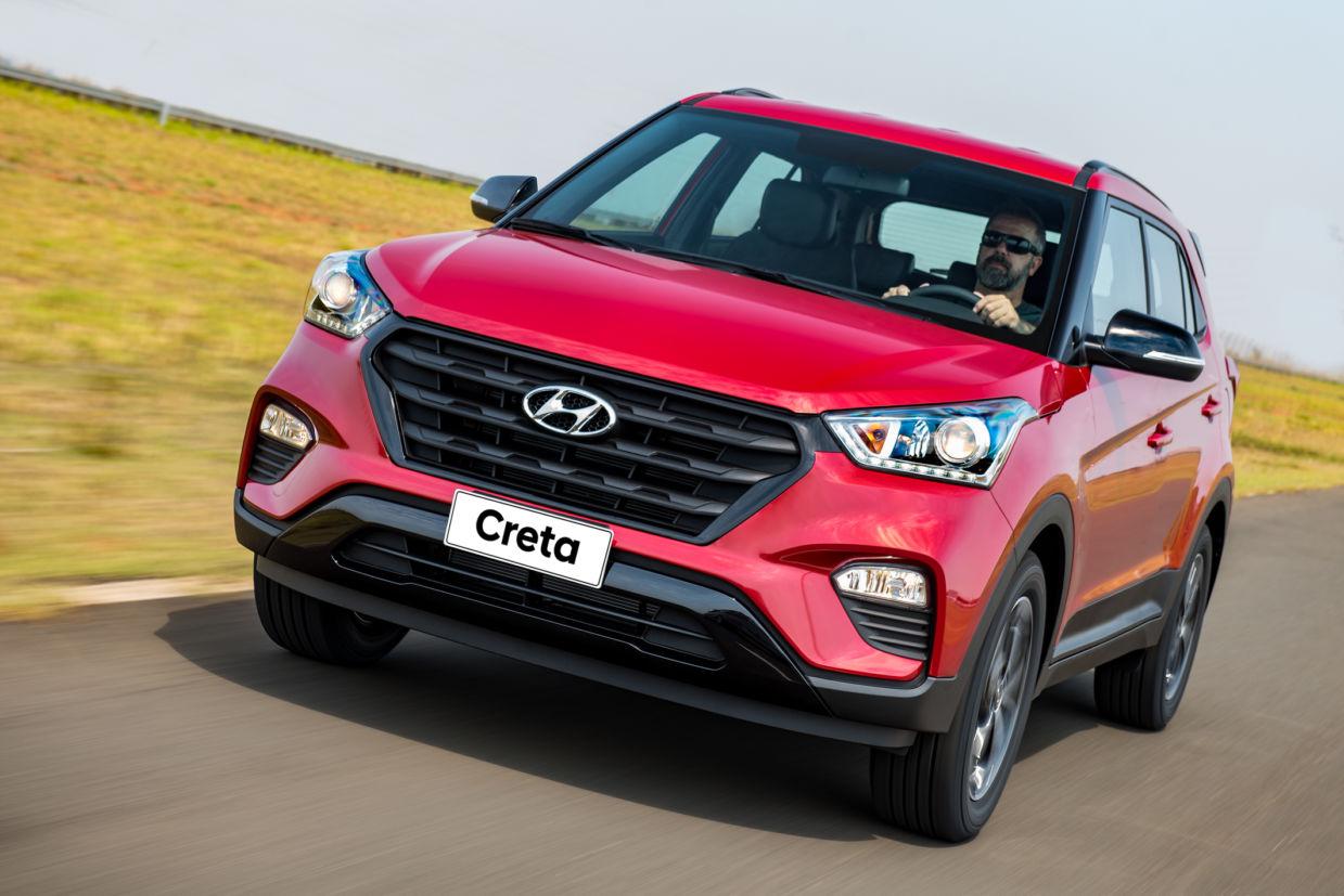 Hyundai Creta 2.0 Sport utiliza pneus com perfil alto, confortáveis no rodar