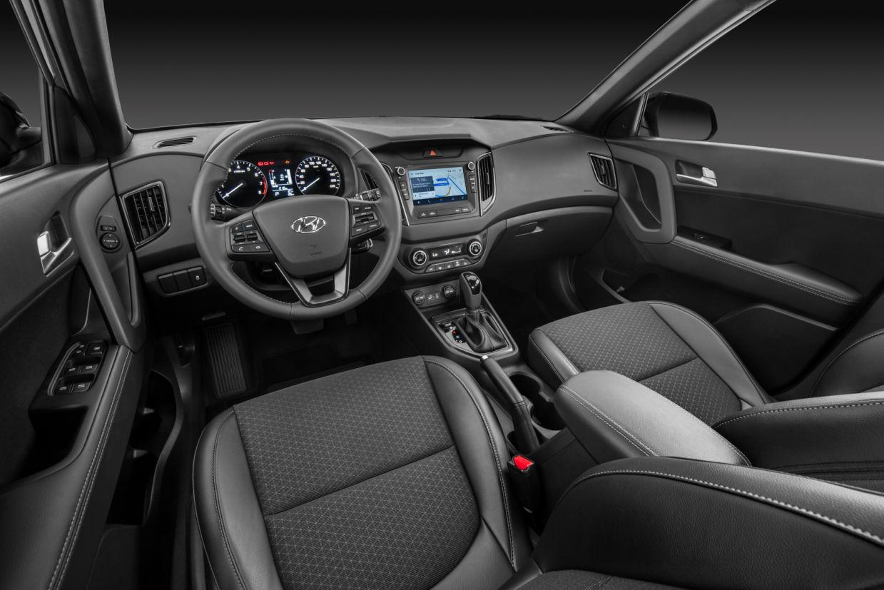 Acabamento do Hyundai Creta 2.0 Sport é feito com bons materiais