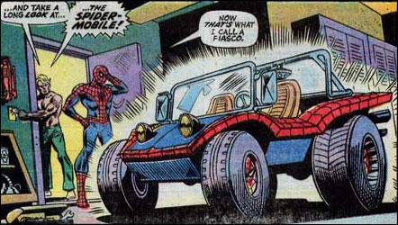 carro do Homem-aranha Peter Parker