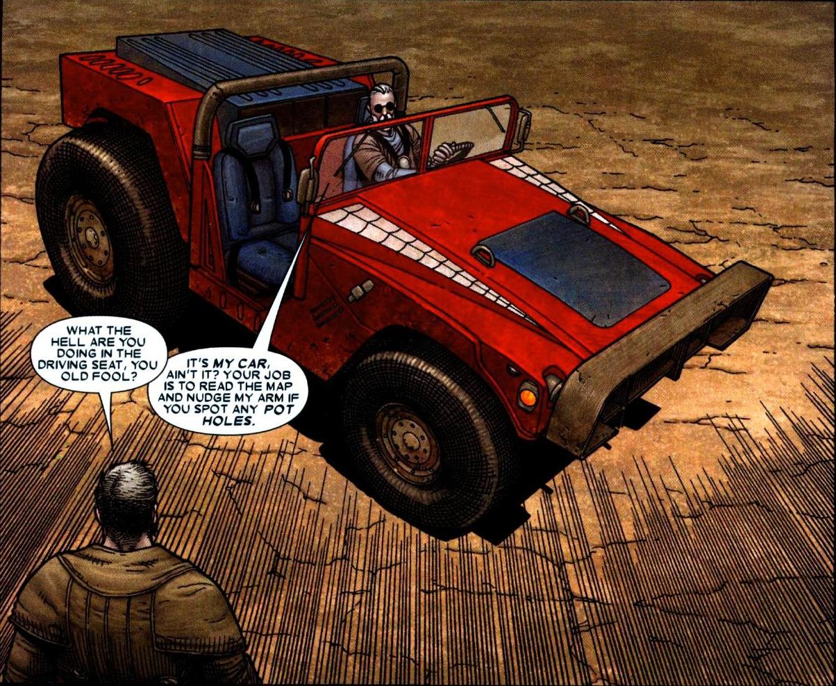 Carro do Peter Parker, o Homem-Aranha, guiado por Hawkeye carro do homem-aranha
