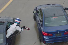 [Vídeo] Por drift mais longo, BMW imitará avião de caça