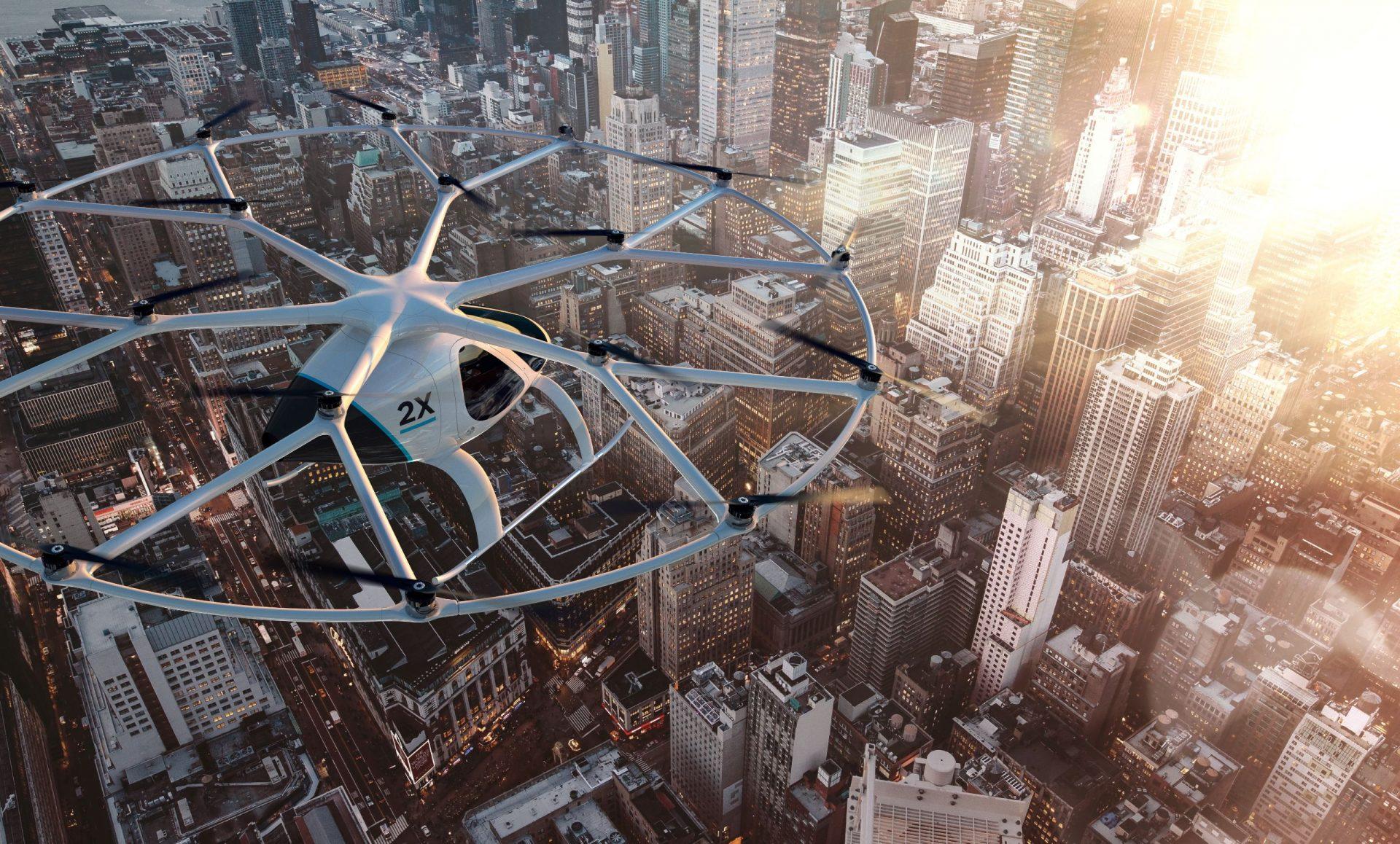 volocopter 2x city closeup