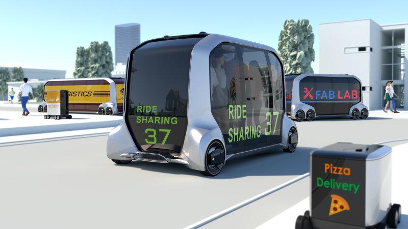 Toyota apresenta, em Las Vegas, o E-palette. Autônomo transportará pessoas e mercadorias.