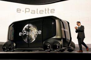 Toyota apresenta e-Palette, autônomo para pessoas e carga