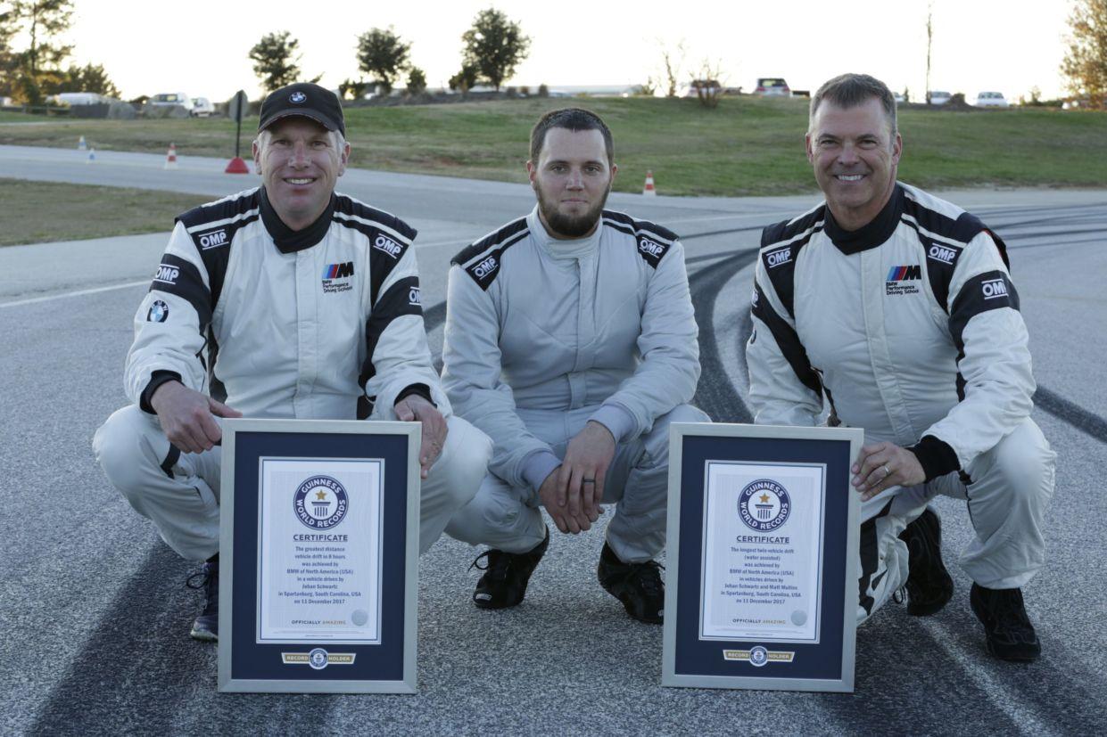 Equipe responsável pelo recorde de drift mais longo