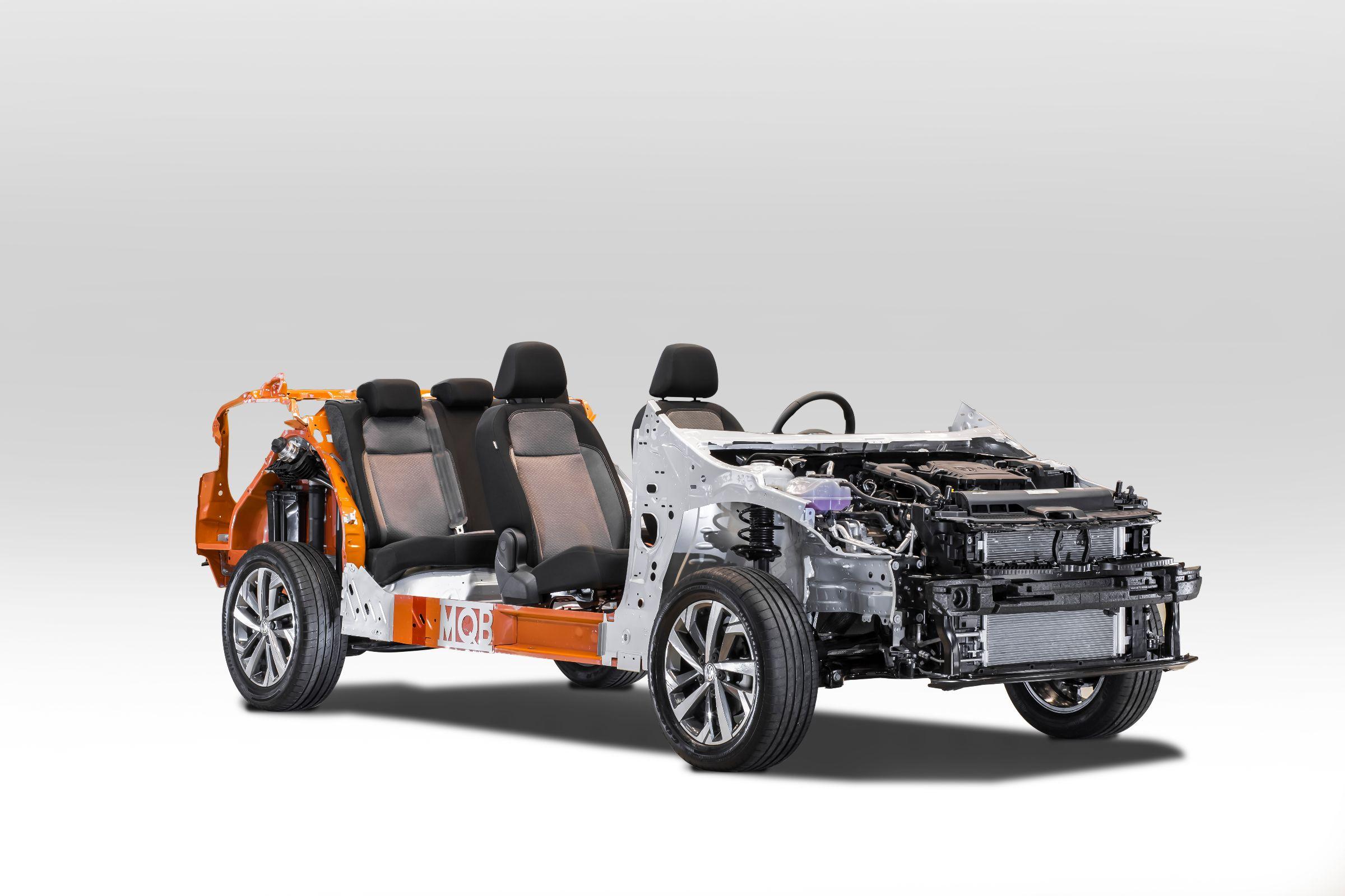 estrategia modular mqb 7 da Volkswagen, que serve de plataforma para o Virtus