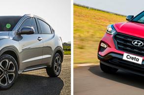 Comparativo: Honda HR-V EXL x Hyundai Creta Sport