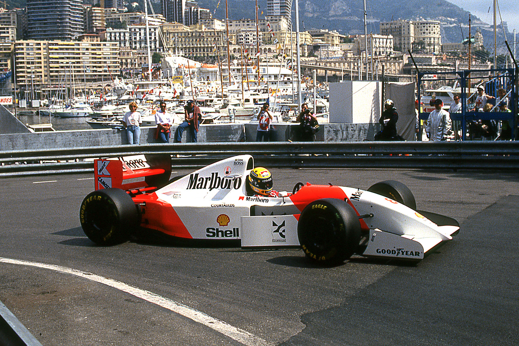 McLaren de Senna no GP de Mônaco de 1993