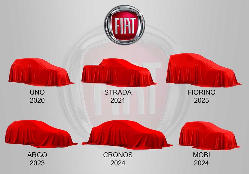 O programa de investimentos incluirá nova geração do Uno, Strada, Mobi, Fiorino, Argo e Cronos, e serão lançados entre 2020 e 2024.