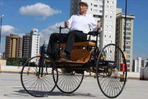 """Patent-Motorwagen, a """"trapizonga"""" de Karl Benz"""