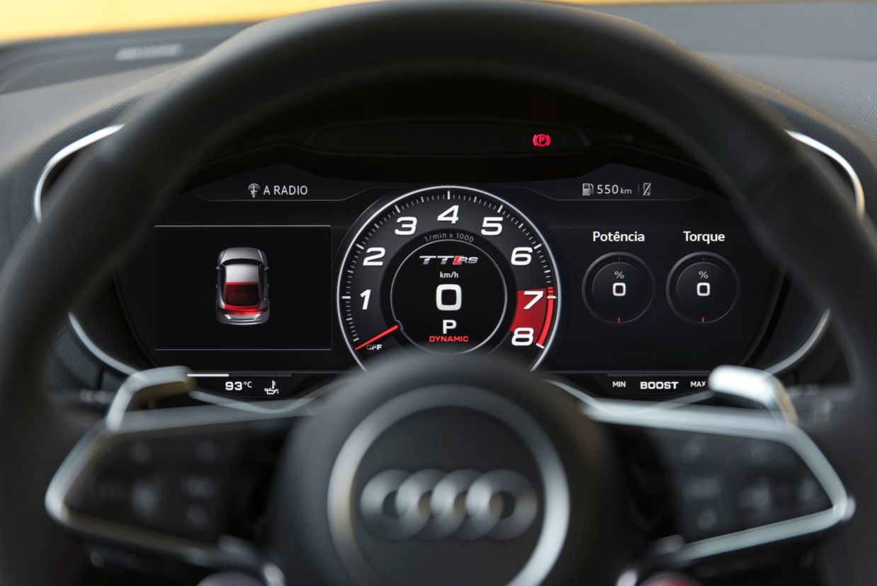 Virtual Cockpit do Audi TT RS