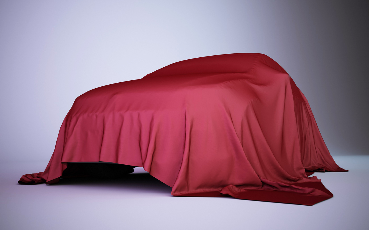 carro coberto com pano modelo desconhecido lançamento novo crossover da renault