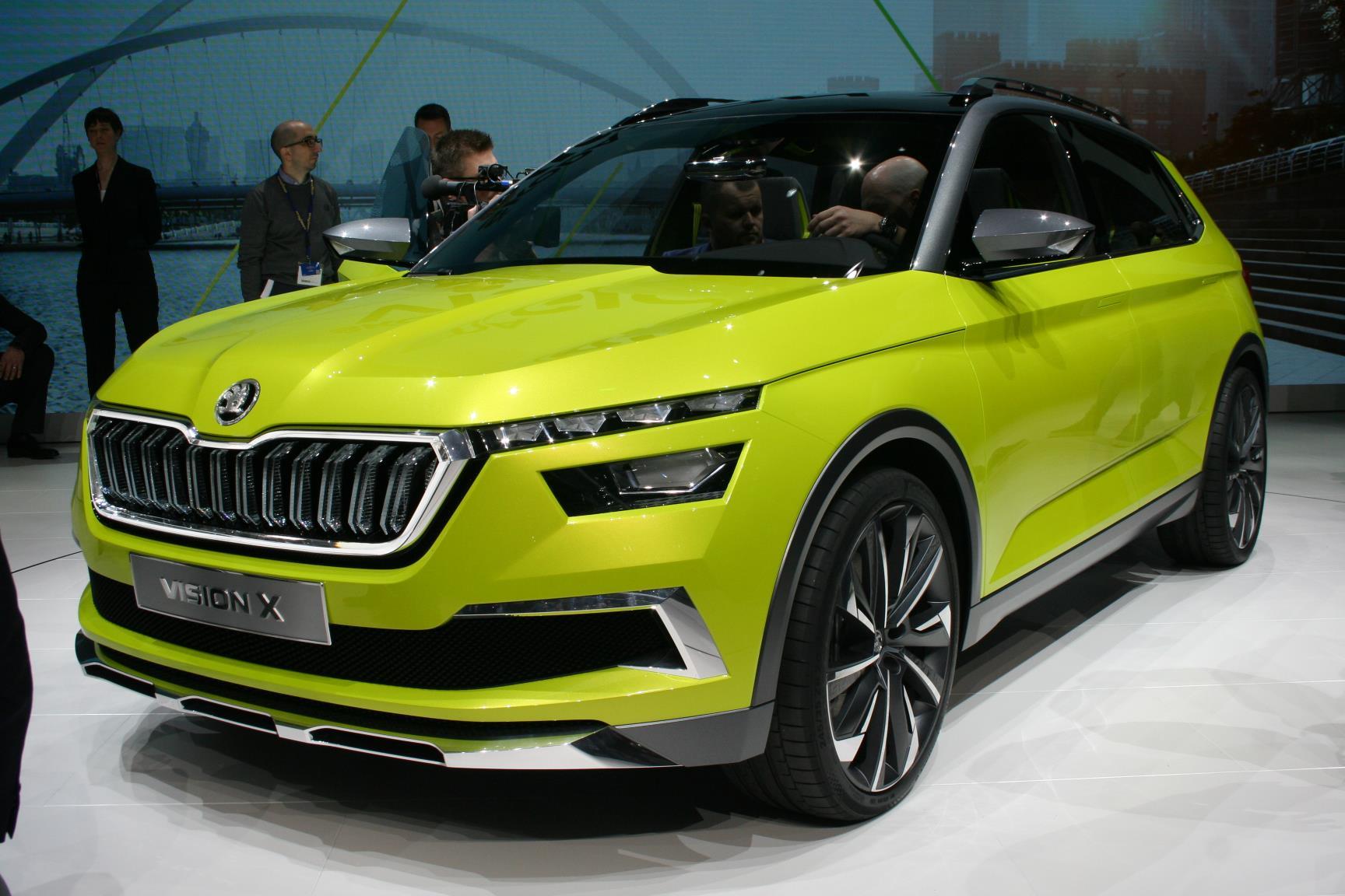 skoda vision x conceito volkswagen t-cross salão de genebra de 2018