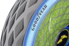 Goodyear apresenta pneu com mofo que produz oxigênio