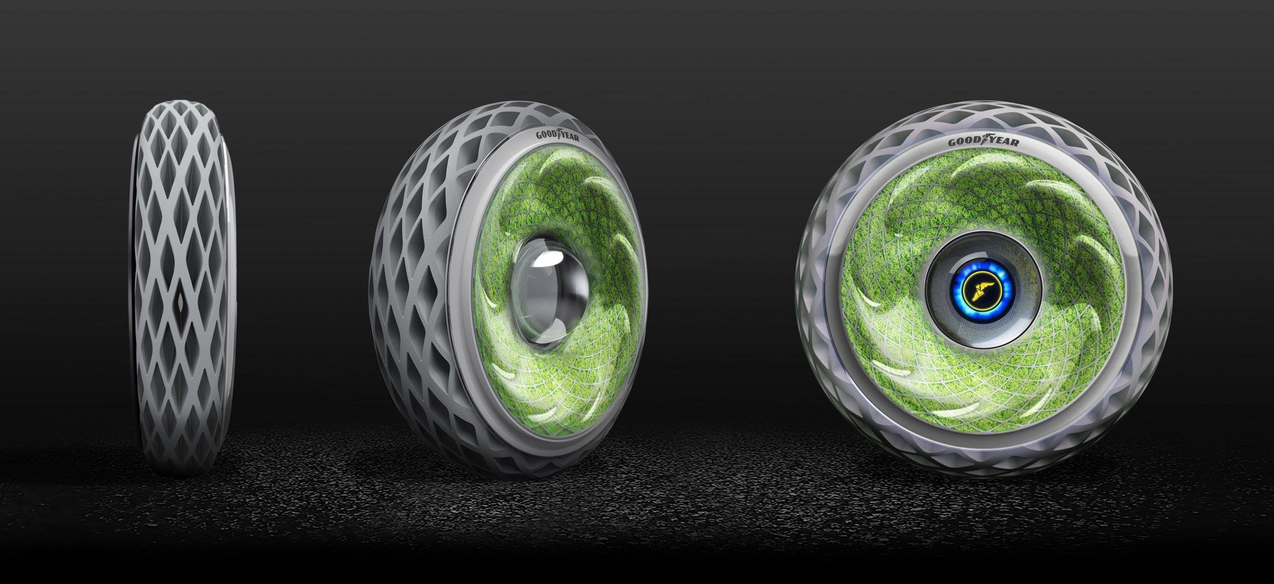 goodyear conceito pneu com mofo oxygene