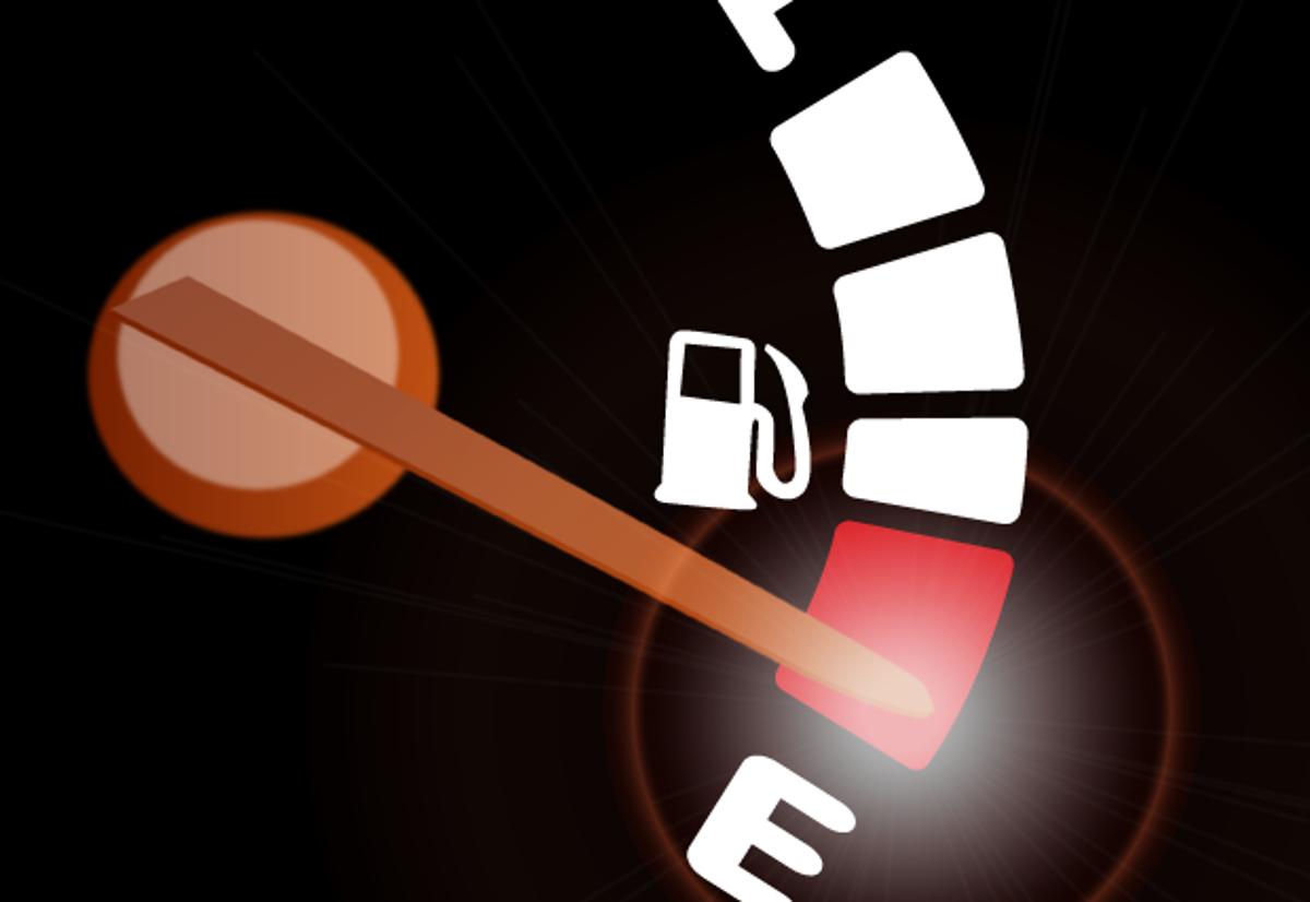 ilustra gasolina acabando