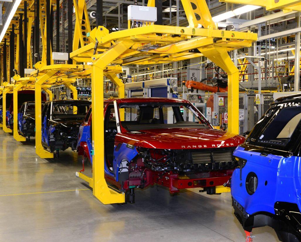 Fábrica da Jaguar Land Rover em Solihull, Inglaterra