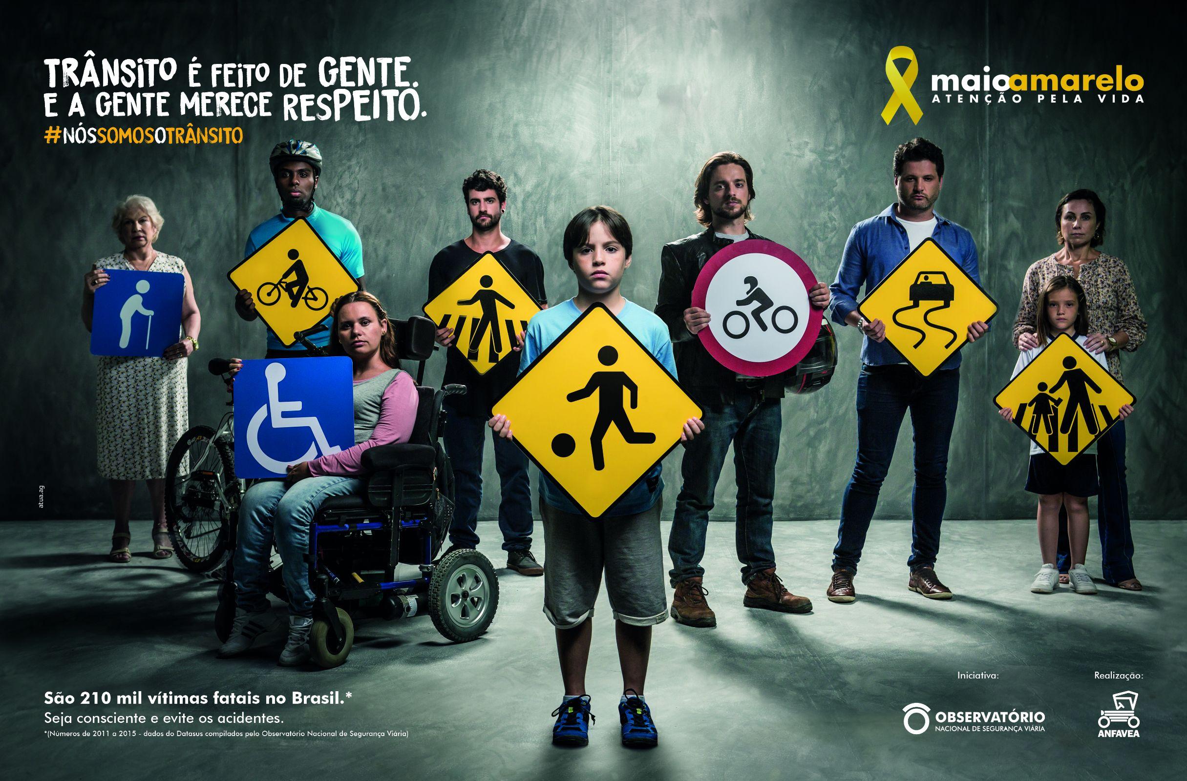 Maio Amarelo alerta para trânsito violento