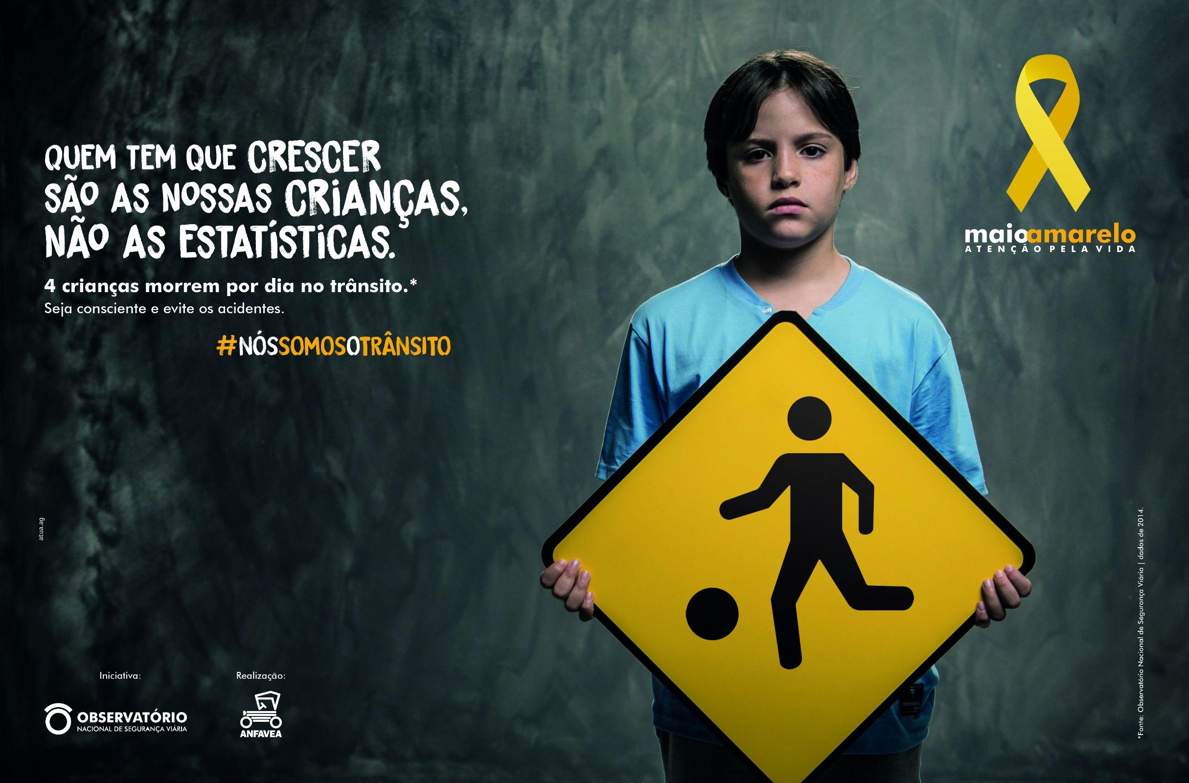 A campanha Maio Amarelo tem como intuito diminuir a violência no trânsito por meio da conscientização da população. No Brasil, a cada hora, cinco pessoas morrem vítimas de acidentes de trânsito.