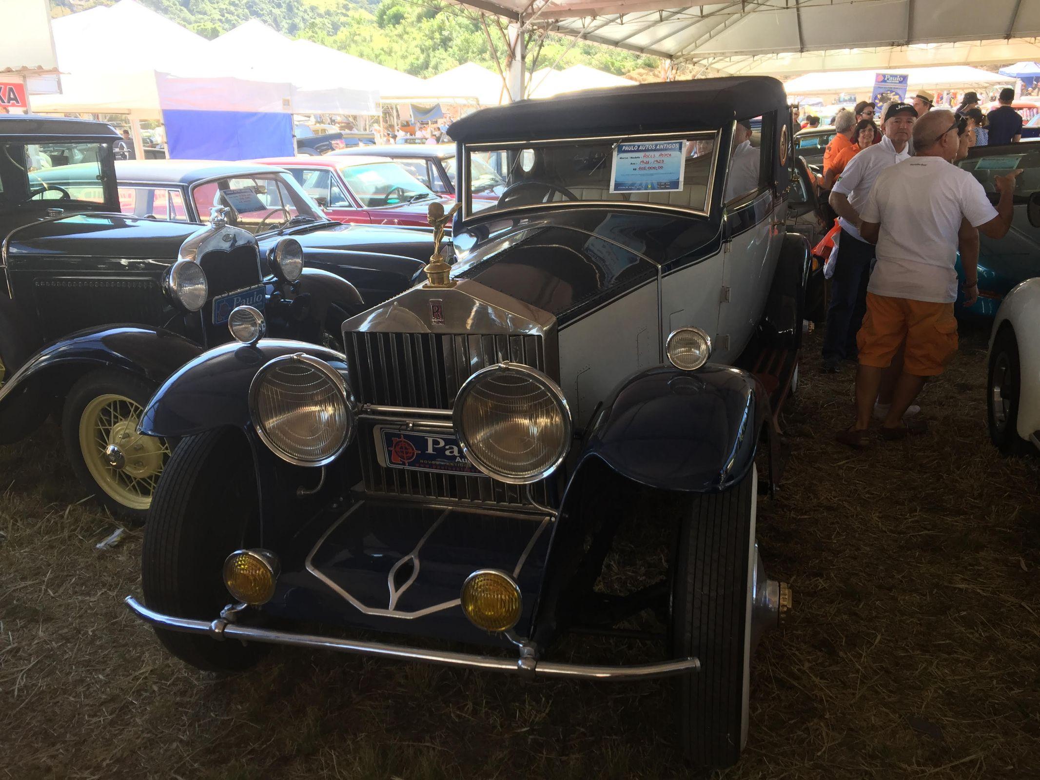 Rolls Royce 1923 no encontro de carros antigos Águas de Lindóia 2018