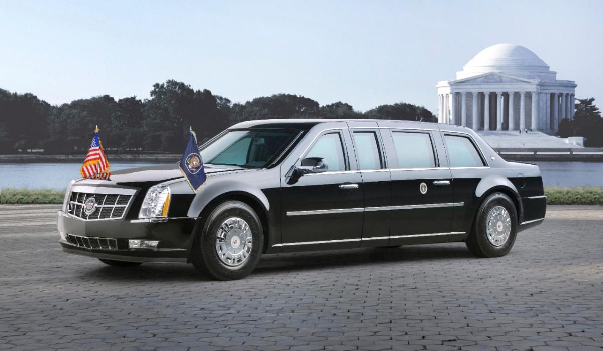 carro do trump limousine cadillac the beast