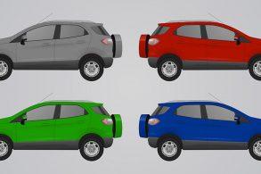 SUV's: Altos e com menor estabilidade