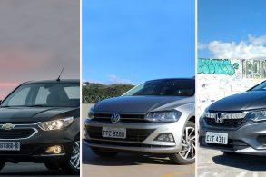 [Comparativo] VW Virtus x Honda City x Chevrolet Cobalt
