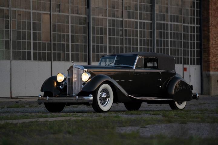 Packard Twelve Individual Custom Convertible Victoria 1934 leilões de carros antigos