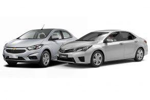 [Usado x 0 km] Corolla GLi 1.8 AT 2016 x Prisma LT 1.4 AT 0 km
